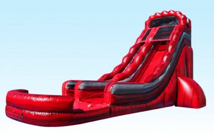 22FT Volcano Water Slide 40L x 22Wx 22H
